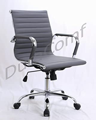 DuraComf Height Adjustable Swivel Executive Chair/Boss Chair/Desk Chair/Office Chair (Grey)