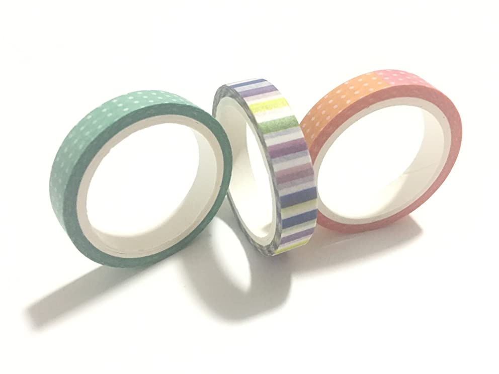 Timemorry Decorative Washi Masking Tape/ Craft Sticky Paper Collection for DIY and Gift Wrapping (colorful)