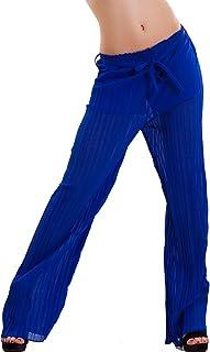 5679cbd9611e12 Toocool - Pantaloni Donna plissettati Eleganti Palazzo Cavallo Basso  Elastico Nuovi AS-2560