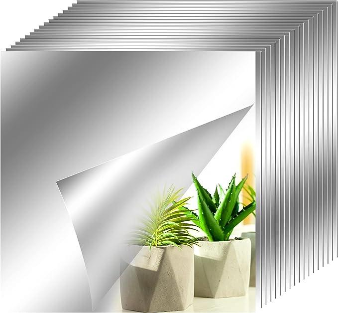 2504 opinioni per 18pcs Pellicola a specchio Cameretta Adesivo Murale15 x 15 cm Specchi