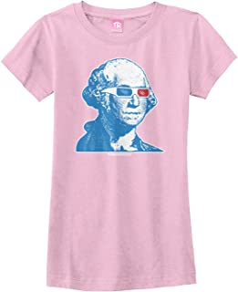 Big Girls' George Washington 3D Glasses Fitted T-Shirt