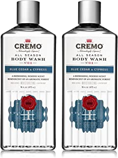 Cremo All Season Body Wash, Blue Cedar & Cypress, 16 oz. 2-pack