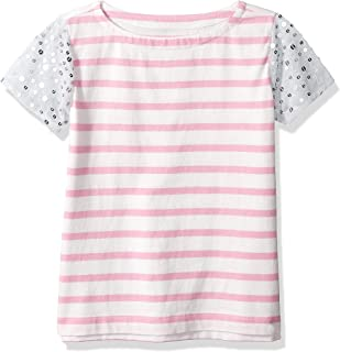 Amazon/ J. Crew Brand- LOOK by crewcuts Girls' Sequin Sleeve Tee
