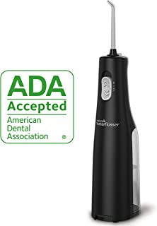 Waterpik Cordless Water Flosser, Battery operated & Portable for Travel & Home, ADA Accepted Cordless Express, Black WF-02