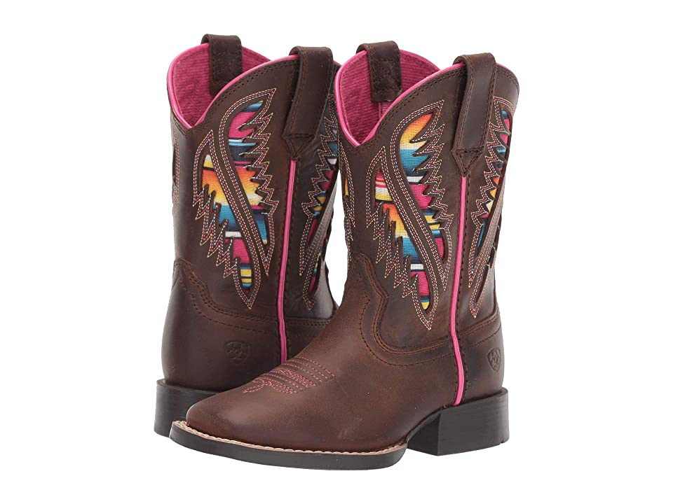 Ariat Kids Quickdraw Venttek (Toddler/Little Kid/Big Kid) (Distressed Brown) Cowboy Boots