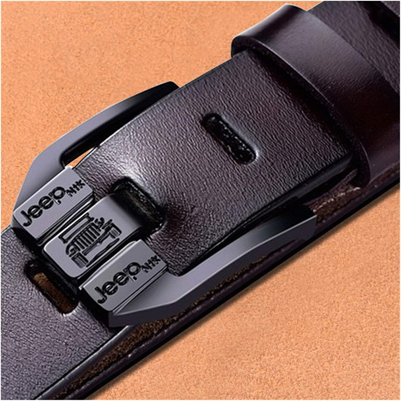 DSJTCH Genuine Leather Super intense SALE for Men Black Be Buckle Belt Jeans Casual Popular