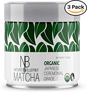 Matcha Green Tea Powder-3 Pk-Organic Japanese Ceremonial Grade Straight from Uji Kyoto, Premium Quality-3 oz BUNDLE contains Powerful Antioxidant Energy for NON-GMO Health. …
