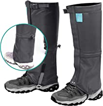 YOUMILE Leg Gaiters, Waterproof Snow Boot Gaiter Shoes Gaitors 600D Anti-Tear Oxford Fabric for Men Women Youth Kids, Three-Layers Mountain Outdoor for Hiking Walking Climbing Hunting Leg Cover Gators