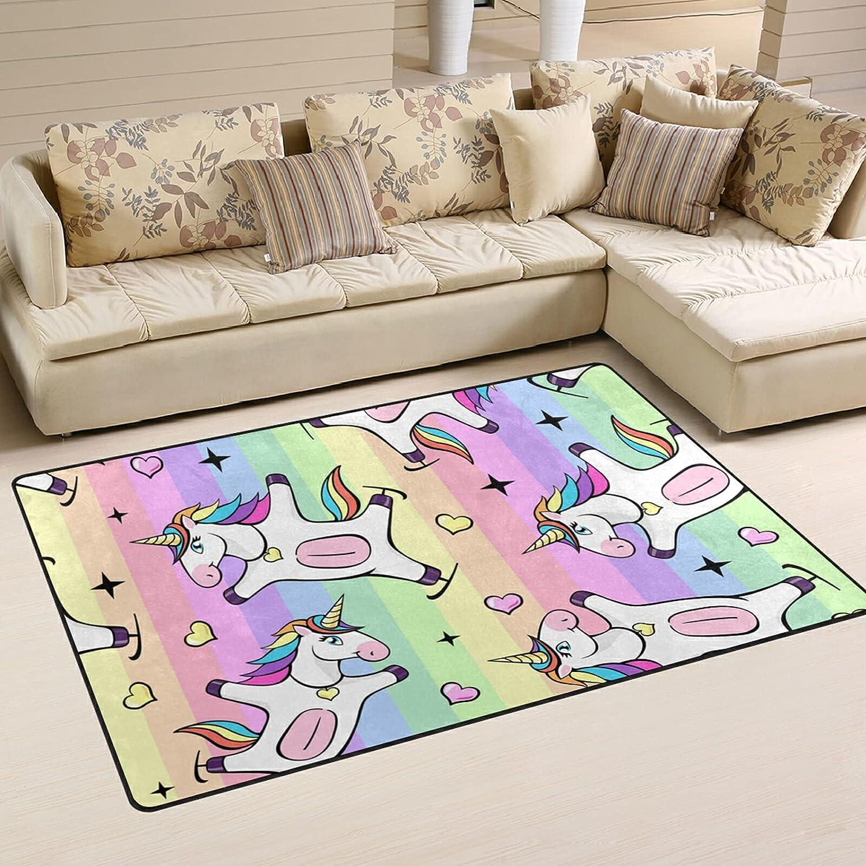 Fantastic Unicorn Rainbow Large Soft Area Nursery Rugs Playmat Popular brand Sales R