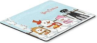 Caroline's Treasures Merry Christmas Standard Schnauzer Black Grey Mouse Pad, Multicolor, 7.75x9.25 (BB2365MP)