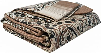 ShopKnot Pure Cotton Blissful Double Bedsheet with 2 Pillow Covers - 180 TC - Peach