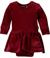 Corduroy Long Sleeve Waisted Dress (Infant)
