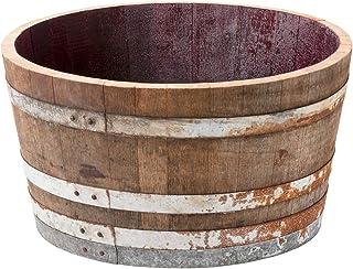 Holzfass, gebrauchtes Weinfass halbiert aus Eichenholz rusti