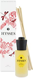 HYSSES Home Scent Reed Diffuser, Rose Geranium, 60 milliliters