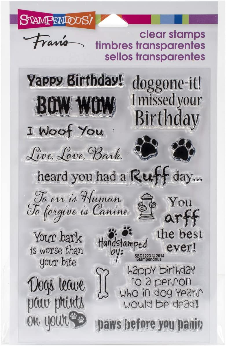Stampedous SSC1223 STAMPENDOUS Clear Sayings Stamps Dog Quality inspection National uniform free shipping