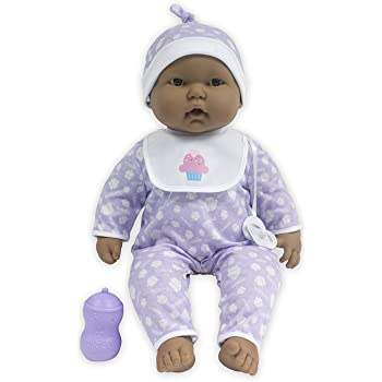 Perfect for Children 2+ JC Toys Group Inc Blue Deluxe Clothing Layette Set 18544 African American Realistic Baby Doll JC Toys 14 All-Vinyl La Newborn