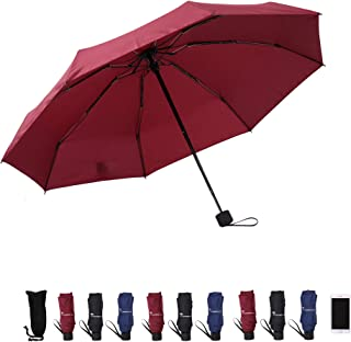 SY Compact Travel Umbrella - Lightweight Portable Mini Compact Umbrellas-Factory Outlet Shop (Red)