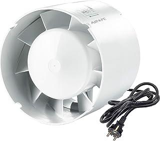 Airope 125 mm,Extracteur D'air Silencieux,190 m3 / h,16 W,Conduit en ligne,Axial de la gain,Économe en énergie,Pour le bai...