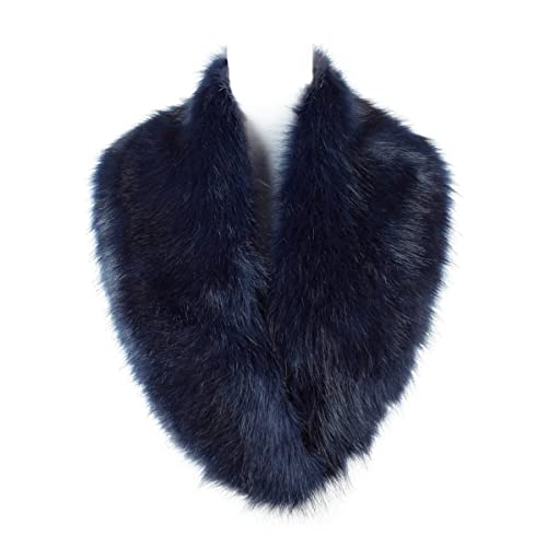 f8e132c4586 Lucky Leaf Women s Faux Fur Collar Wrap Scarf Neck Warmer for Winter Coat  For Wedding Party