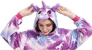 Adult Unicorn Onesie,One Piece Animal Cosplay Costume Pajamas Halloween Sleepwear Gifts for Women Men