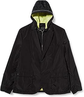 Armani Exchange Men's Blazer Wind Breaker with Hood Jacket