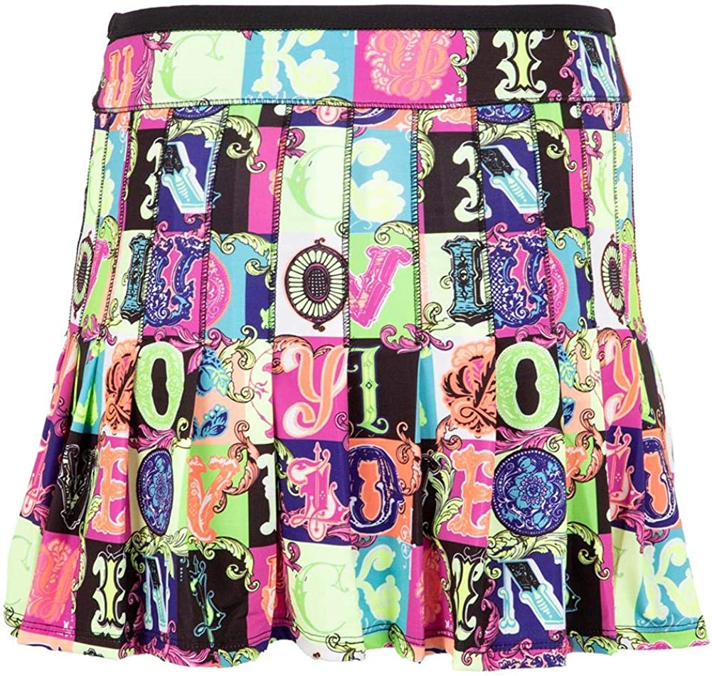 Lucky In Love Women`s Long Lucky Lane Pleated Tennis Skort Multicolor