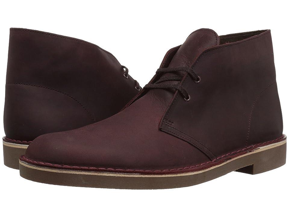 Clarks Bushacre 2 (Wine Leather) Men