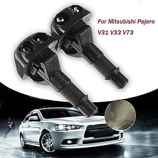 Pair for Mitsubishi Pajero V31 V33 V73 Car Windshield Wiper Washer Spray Nozzle