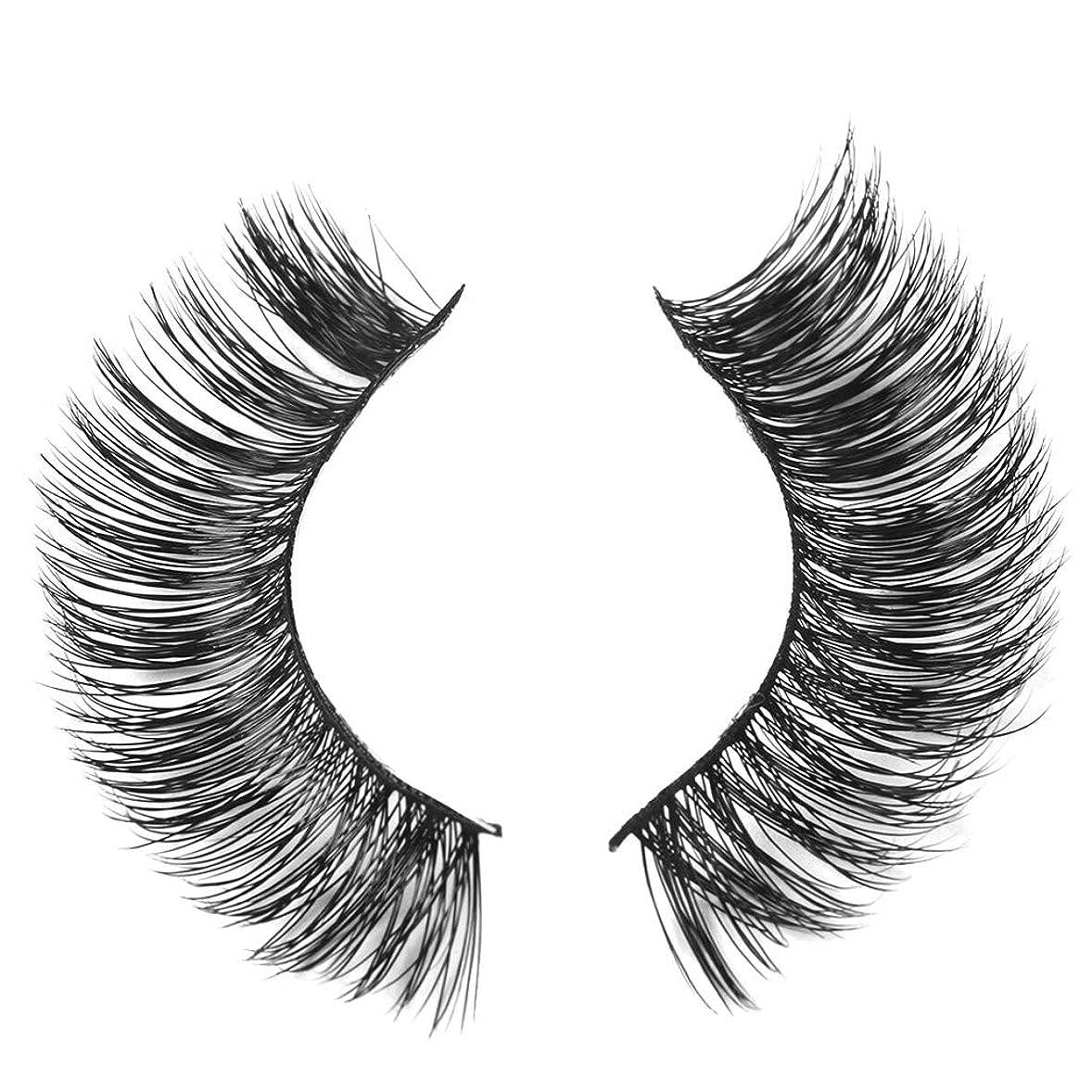 発掘する運賃混雑ミンクの毛の自然な厚くなる化粧品の3D版のための一組のまつげ