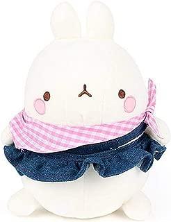 Nuri Toys Molang Blue Jean Skirt Costume Stuffed Animal Rabbit Plush Toy 9.8 inches