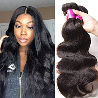 ALI JULIA 20 18 16 Inch Brazilian 10A Virgin Body Wave Hair Weave 3 Bundles 100% Unprocessed Human Hair Weft Extensions Natural Color 95-100g/pc