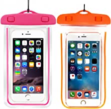 (2Pack) Universal Waterproof Case, Cellphone Dry Bag Pouch Compatible with iPhone 7 6s 6 Plus, SE 5s 5c 5, Galaxy s8 s7 s6 Edge, Note 5 4,LG G6 G5,HTC 10,Sony Nokia up to 6.5