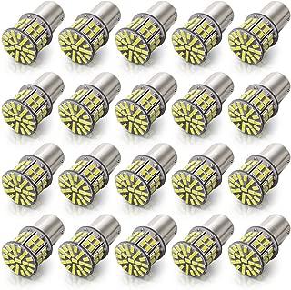 KAFEEK 20× Super Bright 1156 1141 1003 7506 BA15S 50-3014SMD LED Bulbs 12 Volt RV Camper Interior Lights, Xenon White