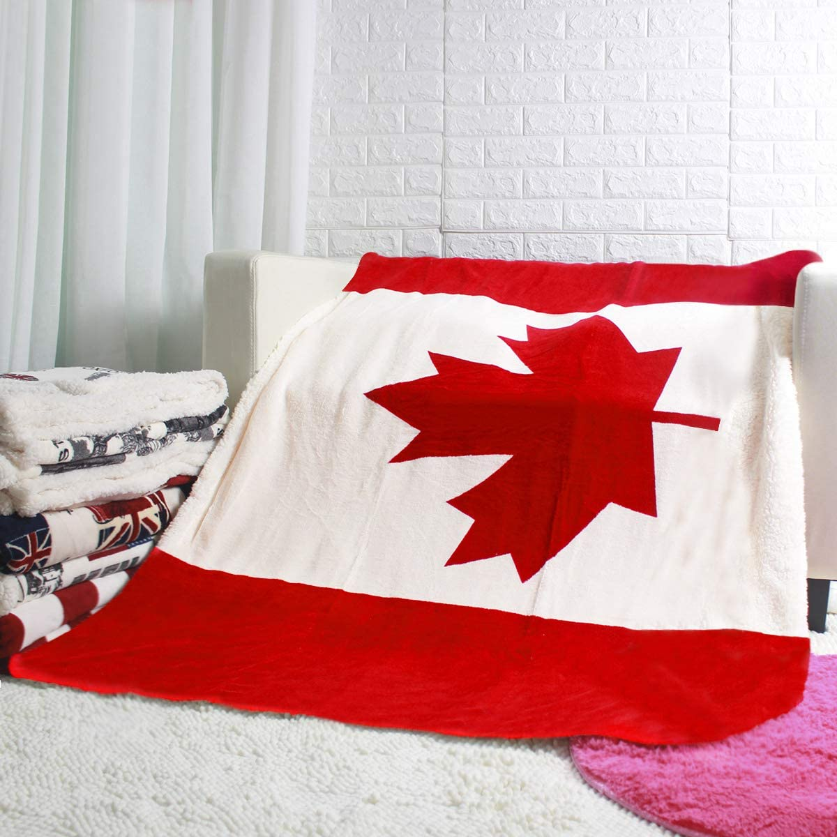 USA Canada Union Jack Flag online shopping Great Bed Daily bargain sale Fleece Blanket Brit