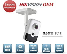 6MP Wireless Security IP Cube Camera - PoE WiFi IR Night Vision 2.8mm Wide Angle Lens Compatible as Hikvision WiFi Cube Camera