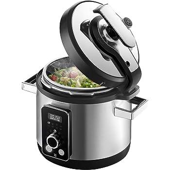 WMF Perfect Multifunctional Cooker Olla a Presión Eléctrica, Programable, 8 Programas, Cocción rápida y Lenta, Capacidad de 6 l, Incluye Recetario, 1100 W, Acero