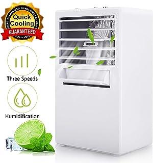 Winload - Mini refrigerador de aire 3 en 1, refrigerador de aire acondicionado de escritorio, ventilador de enfriador portátil con 3 velocidades, aire acondicionado pequeño para oficina y hogar