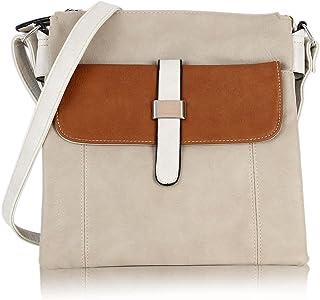 irisaa kleine Umhängetasche Damen, Crossbody Schultertasche Mehrfarbig, Multifunktionale Handtasche Vintage Look mit Magne...