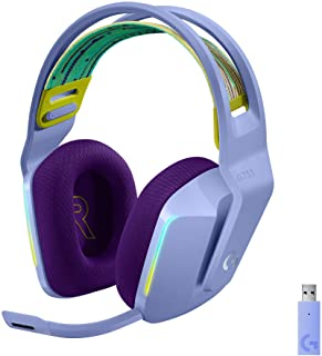 Logitech G Auriculares con Micrófono Inalámbricos Logitech G733 para Gaming con Diadema con Suspensión, Lightspeed, RGB Li...