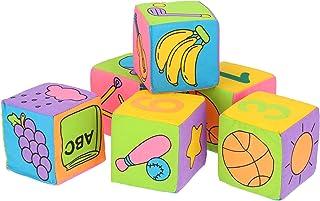 Lantro JS Baby Soft Baby Cloth klocki do zabawy, z zabezpieczeniem przed uderzeniem (kolorowe pudełko), bezpieczne klocki ...