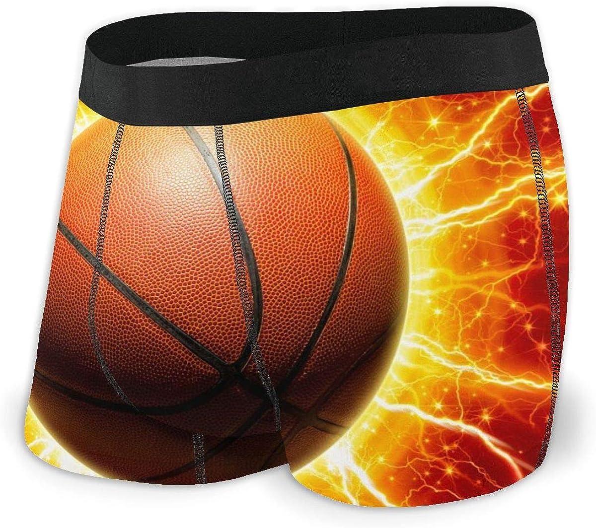 Randolph Wordsworth Mens Boxer Briefs Glowing Basketball Vector Breathable Underwear