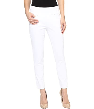 Jag Jeans Amelia Pull-On Slim Ankle Pants in Bay Twill (White) Women