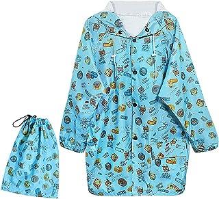 レインコート キッズ 可愛い?漫画 全4サイズ キッズコート 収納ポーチ付き 子供用 アウトドア 通学 保育園 超軽量 雨具