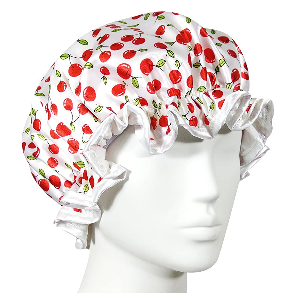 Kella Milla Trendy Satin Shower Cap - Cherries