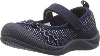 OshKosh B'Gosh Girls' Blyss Mary Jane Flat, Navy, 7 M US Toddler
