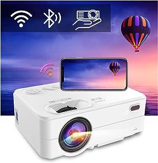 Mini WiFi Bluetooth Projector - Artlii Enjoy 2 Phone Projector Support Full HD 1080P and 300'' Display, 6000L Brightness,K...