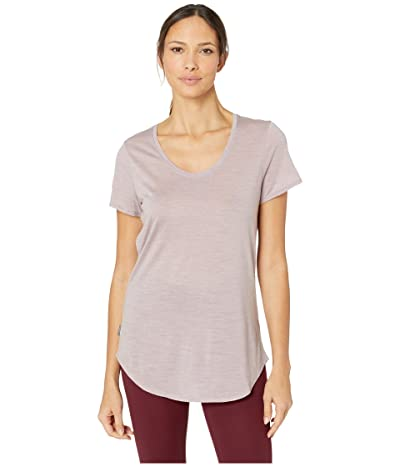 Icebreaker Solace Merino Short Sleeve Scoop (Dusk Heather) Women