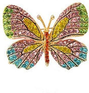 Spilla A Forma Di Farfalla Colorata Di Moda Spilla Per Sciarpa Hijab Con Strass Di Cristallo Con Strass Di Cristallo