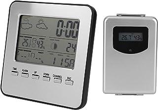 Hygrometer, Wide Application Termometer Hygrometer för väderrapport Väckarklocka för mätning av temperatur och luftfuktighet