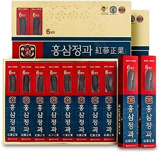 [Gangwoninsam] 6 Year Honeyed Korean Red Ginseng Whole Root, Healthy Korean Food, Portable Packs, 300g (37.5g x 8 Packs, 1...